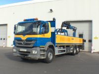 Mercedes-Benz Axor 2533L Dropside with Crane and Day Cab